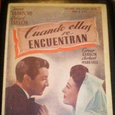 Cine: BIBLIOTECA FILMS NOVELA CUANDO ELLAS SE ENCUENTRAN. Lote 49100790
