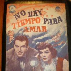 Cine: BIBLIOTECA FILMS NOVELA NO HAY TIEMPO PARA AMAR. Lote 49100831