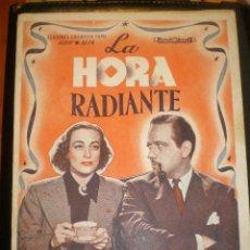 Cine: BIBLIOTECA FILMS NOVELA LA HORA RADIANTE. Lote 49100840