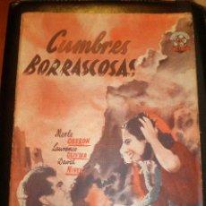 Cine: BIBLIOTECA FILMS NOVELA CUMBRES BORRASCOSAS. Lote 49100848