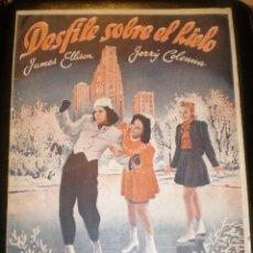 Cine: BIBLIOTECA FILMS NOVELA DESFILE SOBRE HIELO. Lote 49102025