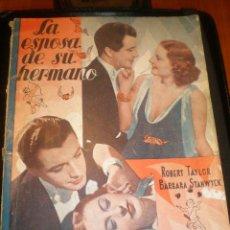 Cine: BIBLIOTECA FILMS NOVELA LA ESPOSA DE SU HERMANO. Lote 49102028