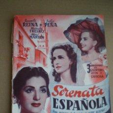 Cine: JUANITA REINA - SERENATA ESPAÑOLA - ED. BISTAGNE 195?// JUAN DE ORDUÑA QUINTERO LEON Y QUIROGA COPLA. Lote 49479705