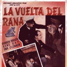 Cine: BIBLIOTECA FILMS: LA VUELTA DEL RANA - GORDON HARKER&RENE RAY&UNA O'CONNOR ED.ALAS. Lote 50081041