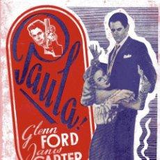 Cine: BIBLIOTECA FILMS: PAULA - GLENN FORD&JANIS CARTER ED.ALAS. Lote 50081051