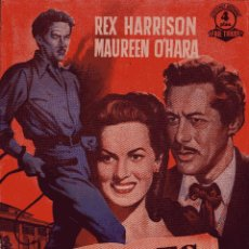 Cinema: EDICIONES BISTAGNE-SERIE TRIUNFO: DEBIL ES LA CARNE - REX HARRISON&MAUREEN O'HARA. Lote 50081075