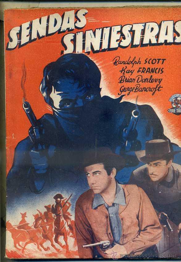 SENDAS SINIESTRAS (BISTAGNE) (Cine - Foto-Films y Cine-Novelas)