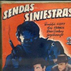 Cine: SENDAS SINIESTRAS (BISTAGNE). Lote 50934460