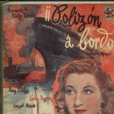 Cine: TONY D'ALGY / LINA YEGROS / ISMAEL MERLO : POLIZON A BORDO (BISTAGNE). Lote 50934903