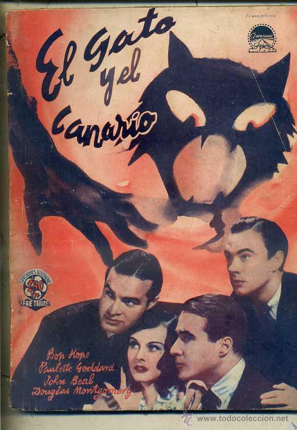 BOB HOPE / PAULETTE GODARD : EL GATO Y EL CANARIO (BISTAGNE) (Cine - Foto-Films y Cine-Novelas)
