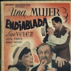 Cine: LUPE VELEZ : UNA MUJER ENDIABLADA (BIBLIOTECA FILMS). Lote 50935139