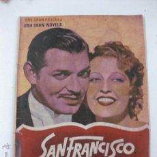 Cine: SAN FRANCISCO. CLARK GABLE - JEANNETTE MACDONALD - SPENCER TRACY.ARGUMENTO NOVELADO.. Lote 52446276