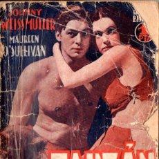 Cine: JOHNNY WEISSMULLER - MAUREEN O'SULLIVAN : TARZAN Y SU COMPAÑERA. Lote 53027240