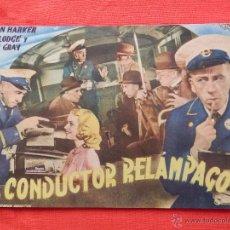 Cine: EL CONDUCTOR RELAMPAGO, NOVELA CINEVIDA, GORDON HARKER SALLY GRAY, 12 PÁGINAS. Lote 54056940