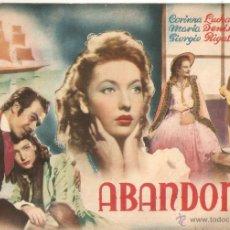 Cine: ABANDONO. CINEVIDA. ITALCINE. MARIA DENIS. 29,30 X 20,40 CMS-VELL I BELL.. Lote 54198196