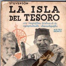Cine: STEVENSON : LA ISLA DEL TESORO (NOVELA AZUL, 1935) CON FOTOGRAMAS DE LA PELÍCULA. Lote 54242445