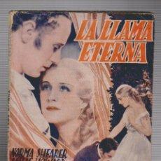 Cine: LA LLAMA ETERNA - NOVELA CON FOTOGRAFIAS - NORMA SHEARER- LESLIE HOWARD - ED. BISTAGNE. Lote 54563100