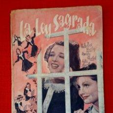 Cine: LA LEY SAGRADA -CINE NOVELA -EDICIONES BISTAGNE 1930. Lote 54723754