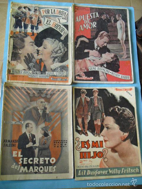 Cine: 12 novelas de grandes peliculas, ediciones biblioteca films, serie alfa, de editorial alas, - Foto 4 - 56299271