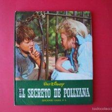 Cine: EL SECRETO DE POLLYANA - WALT DISNEY - EDICIONES GAISA 1968 - CON FOTOS DE LA PELÍCULA. Lote 203949205