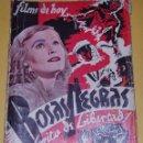 Cine: FILMS DE HOY - ROSAS NEGRAS / UN GRITO DE LIBERTAD - LILIAN HARVEY - 1ª EDICION AÑOS 30-40. Lote 56728774