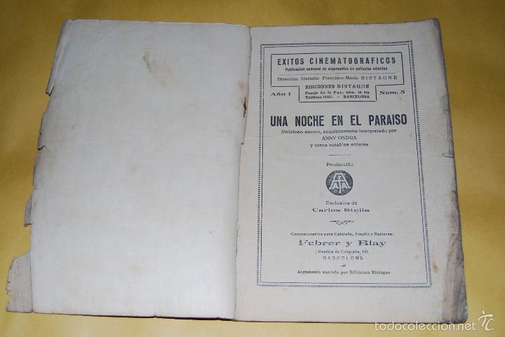Cine: EXITOS CINEMATOGRAFICOS - UNA NOCHE EN EL PARAISO - ANNY ONDRA - EDICIONES BISTAGNE AÑOS 30 - Foto 2 - 56743816