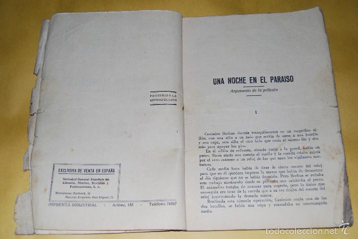 Cine: EXITOS CINEMATOGRAFICOS - UNA NOCHE EN EL PARAISO - ANNY ONDRA - EDICIONES BISTAGNE AÑOS 30 - Foto 3 - 56743816