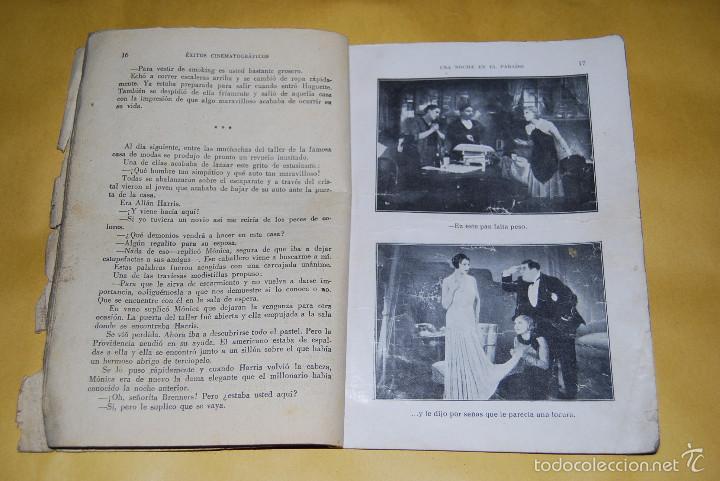 Cine: EXITOS CINEMATOGRAFICOS - UNA NOCHE EN EL PARAISO - ANNY ONDRA - EDICIONES BISTAGNE AÑOS 30 - Foto 4 - 56743816