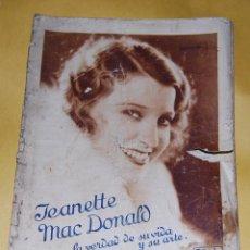 Cine: JEANETTE MACDONALD - LA VERDAD DE SU VIDA Y ARTE - 30 GRANDES FOTOGRAFIAS EN HUECOGRABADO. Lote 56744271