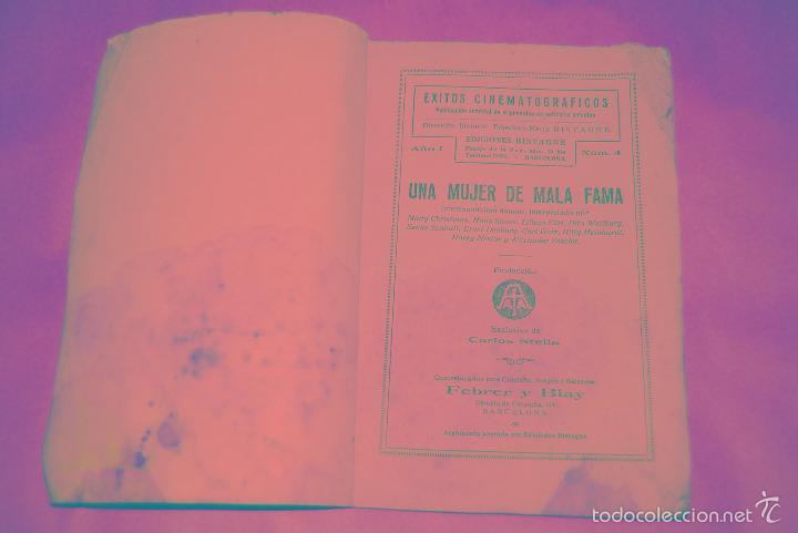 Cine: NOVELA - EXITOS CINEMATOGRAFICOS - UNA MUJER DE MALA FAMA MADY CHRISTIANS EDICIONES BISTAGNE AÑOS 30 - Foto 2 - 56779878