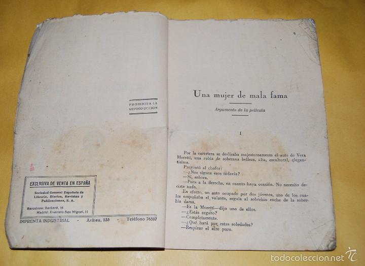 Cine: NOVELA - EXITOS CINEMATOGRAFICOS - UNA MUJER DE MALA FAMA MADY CHRISTIANS EDICIONES BISTAGNE AÑOS 30 - Foto 3 - 56779878