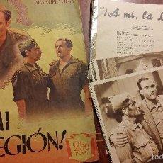 Cine: A MI LA LEGION 1942 ALFREDO MAYO CIFESA 25 FOTOCROMOS MAS REVISTA DE LA PELICULA. Lote 56859444