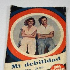 Cine: LOS MEJORES FILMS, ARGUMENTO DE LA PALICULA MI DEBILIDAD LILIAN HARVEY Y LEW AYRES 35 PAGINAS. Lote 57181820