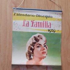 Cinema: CALENDARIO ARTISTAS CINE - CHICAS PIN UP - LA FAMILIA AÑO 1959 (VER IMÁGENES ADICIONALES). Lote 57904873