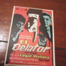Cine: EL DELATOR EDGAR WALLACE ALFRED VOHRER BARBARA RUTTING CIFESA . Lote 57906091