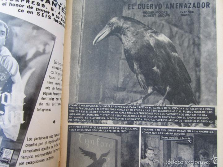 Cine: el cuervo amenazador , numero 5 , aventuras de ivanhoe , fotonovela de roger moore , el santo , - Foto 2 - 58272429