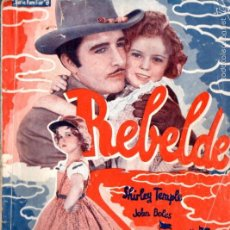 Cine: SHIRLEY TEMPLE : REBELDE. Lote 58546690