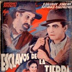 Cine: DOROTHY JORDAN : ESCLAVOS DE LA TIERRA. Lote 58546724