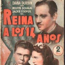 Cine: DIANA DURBIN / MERVYN DOUGLAS : REINA A LOS 14 AÑOS. Lote 58546833