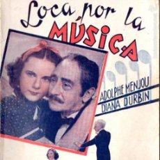 Cine: DIANA DURBIN : LOCA POR LA MÚSICA. Lote 58547004