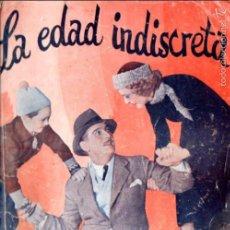 Cine: MADGE EVANS : LA EDAD INDISCRETA. Lote 58547102