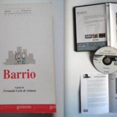 Cine: BARRIO, GUIÓN DE LA PELÍCULA DE FERNANDO LEÓN DE ARANOA: DIBUJOS DEL DIRECTOR + PRÓLOGO SALVADOR M. Lote 87344991