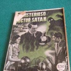 Cine: EL MISTERIOSO DOCTOR SATAN EDICIONES RIALTO COLECCION CINE. Lote 61363871