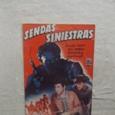 Cine: SENDAS SINIESTRAS EDICIONES BISTAGNE CON RANDOLPH SCOTT,RAY FRANCIS,BRIAN DONLEVY ,GEORGE BRANCOFT. Lote 62061864