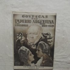 Cine: GOYESCAS POR IMPERIO ARGENTINA EDICIONES RIALTO PRESENTA A MARLENE DIETRICH. Lote 62062396
