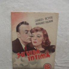 Cine: SU VIDA INTIMA EDITORIAL GRAFIDEA CON CHARLES BOYER Y MARGARET SULLAVAN. Lote 62065108