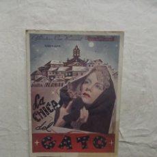 Cinéma: LA CHICA DEL GATO . Lote 62065896
