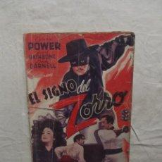 Cine: EL SIGNO DEL ZORRO CON TYRONE POWER ,BASIL RATHBONE Y LINDA DANDELL . Lote 62206008
