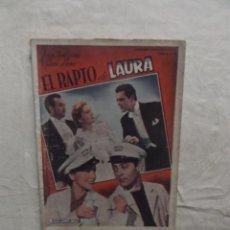 Cine: EL RAPTO DE LAURA CON JOAN FONTAINE Y ALLLAN LANE . Lote 62206204