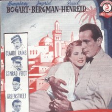Cine: CASABLANCA - HUMPHREY BOGART, INGRID BERGMAN - SERIE TRIUNFO - EDICIONES BISTAGNE. Lote 63786683